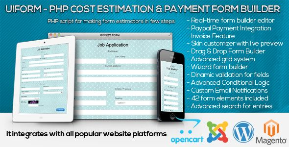 download free uiform php cost estimation payment form builder