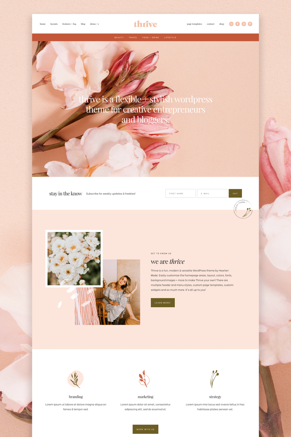 Thrive WordPress Theme by Hearten Made
