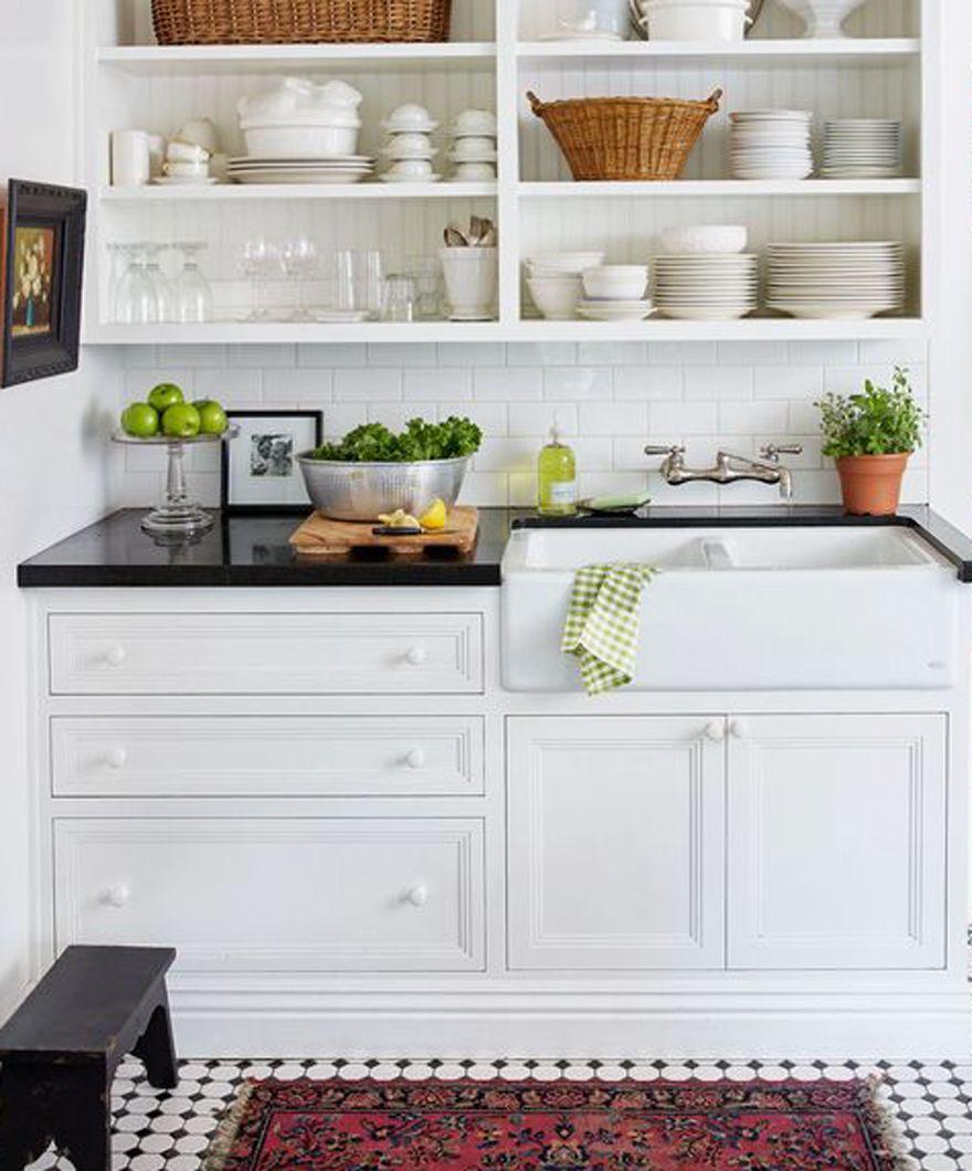 Open Kitchen Cabinet Decorating Ideas: House Tour + Gardener's Cottage