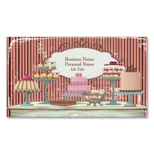 Vintage Retro Sweet Candy Bakery Bar Profile Card Business Card - profile templates