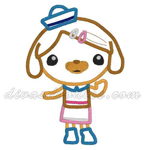 Octonauts Dashi (Sauci) Dog Applique $4.00 | Appliques | Pinterest