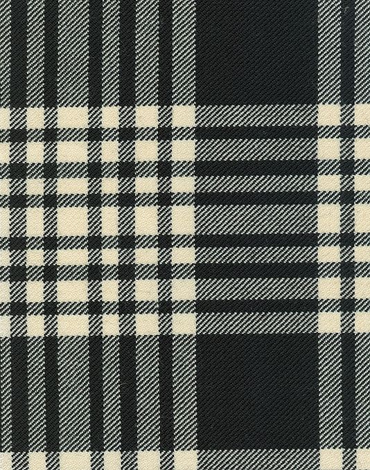 Menzies Tartan Fabric Black And White Plaid Wool Fabric Suitable