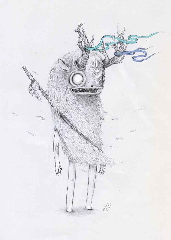 pencil sketches by luiza kwiatkowska, via Behance