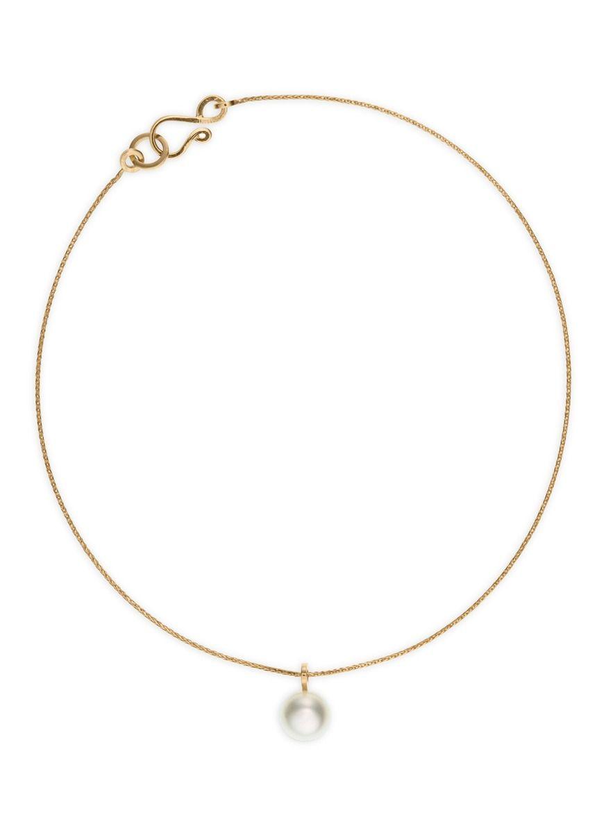 Sophie Bille Brahe Palme De Perle 14-karat Gold Pearl Anklet VTP0ZCIl