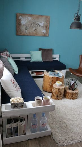 Sofa aus Europaletten mit vielen Extras #sofaauspalletten