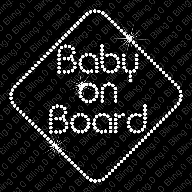 6fdbd012fe Baby on Board Bling Decal | Baby on Board | Bling Decal | Rhinestone ...