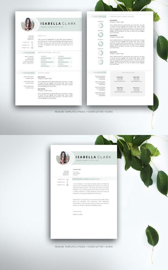 Resume Template For Ms Word  Cv Template