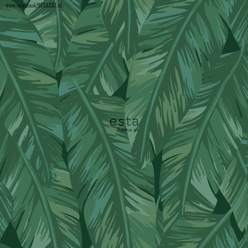 Jungle Fever Art I Behang Wallpaper Plant Leaves Pine
