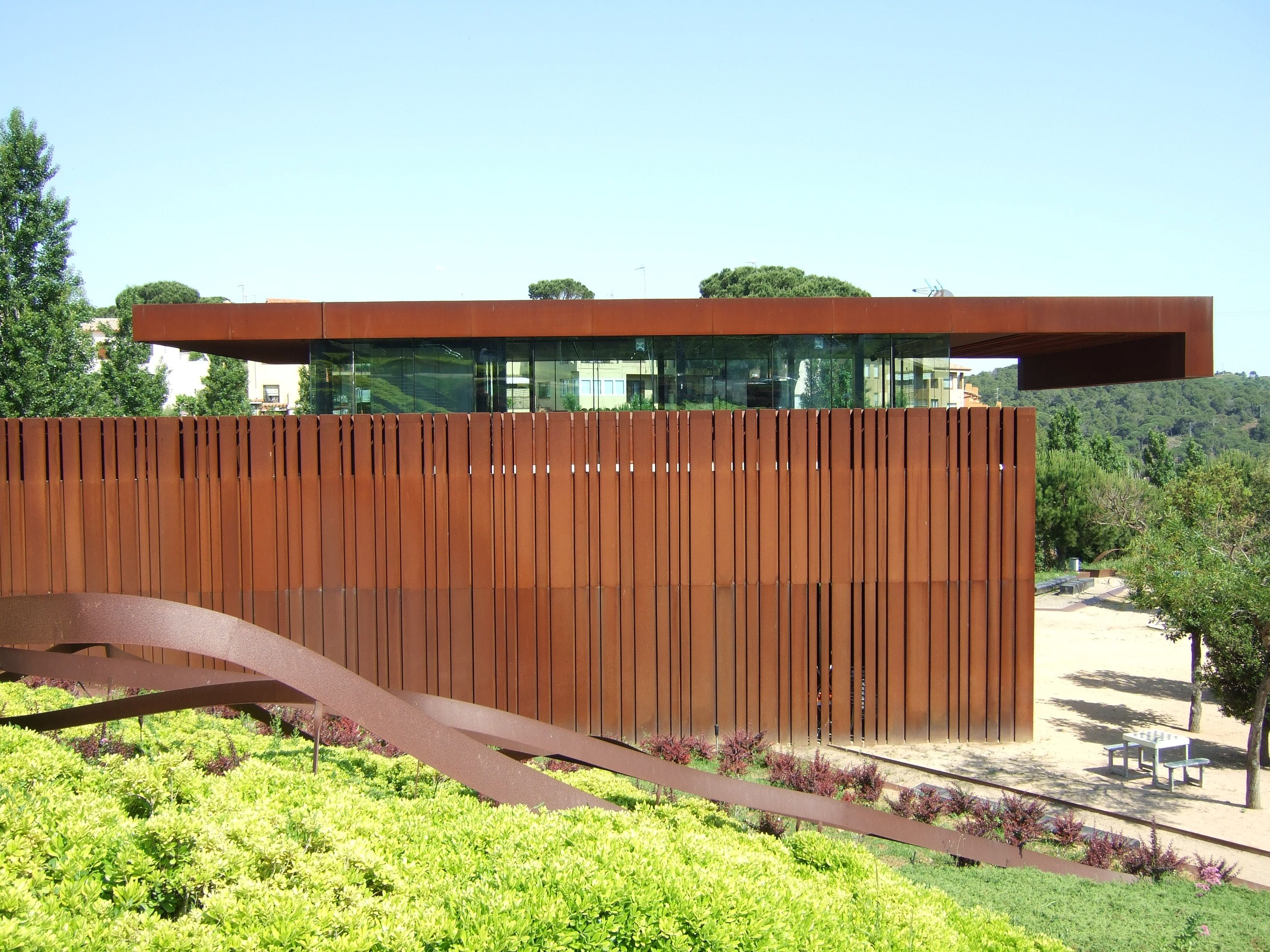 Parque de la arboleda begur girona rcr arquitectes pinterest centre architecture and facades - Arquitectura girona ...
