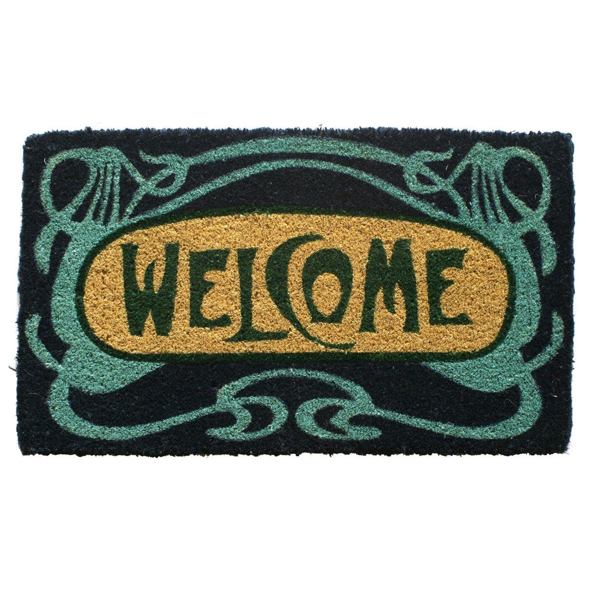 Eufab art deco welcome fibre doormat home u hallway