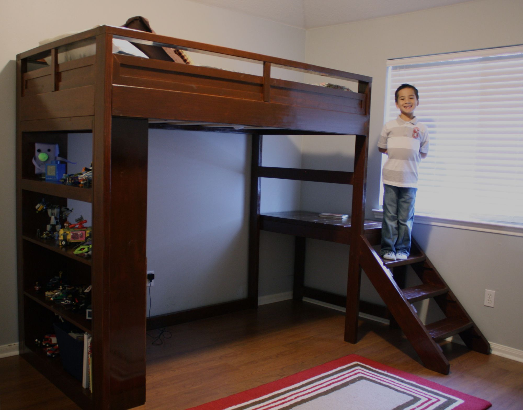 Bunk bed loft ideas  Loft Bed with Stairs and Desk Plans  Ideas to Decorate Desk Check