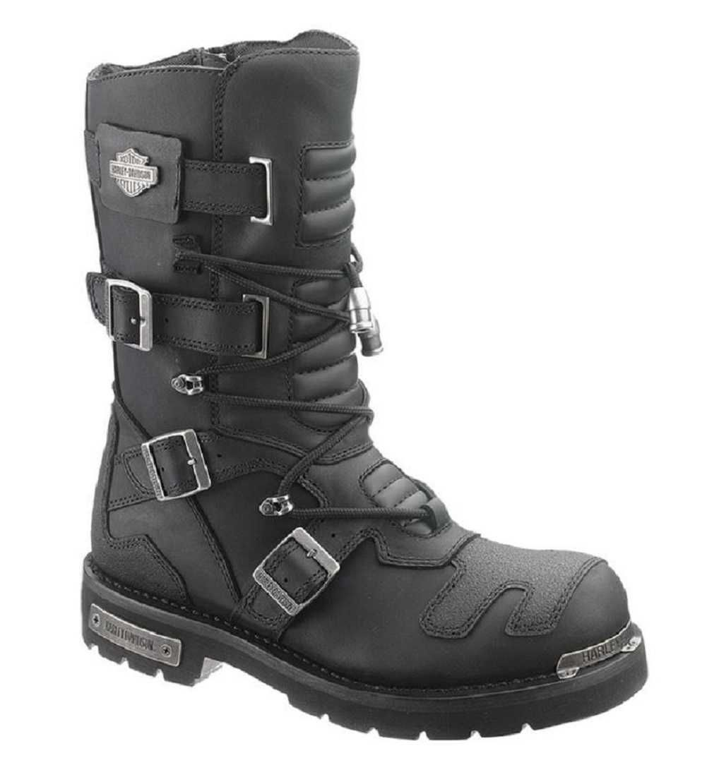 8d335570eb0 Harley-Davidson® Men's Axel 10-Inch Black Motorcycle Boots D96035 ...