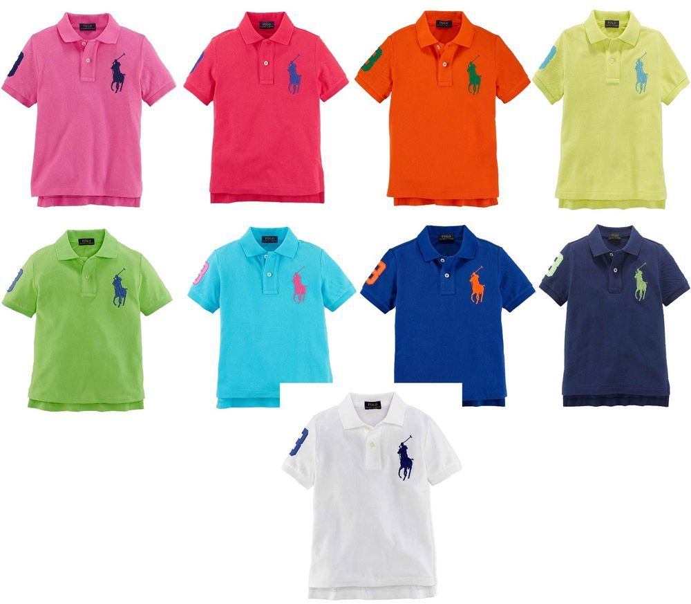 Ralph Lauren Polo Baby Boys Cotton Mesh Short Sleeve Big Pony Polo Shirt