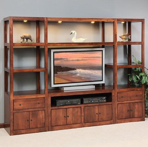 Amish Made Solid Wood Entertainment Center Modern Entertainment Center Wood Entertainment Center Home Entertainment Centers