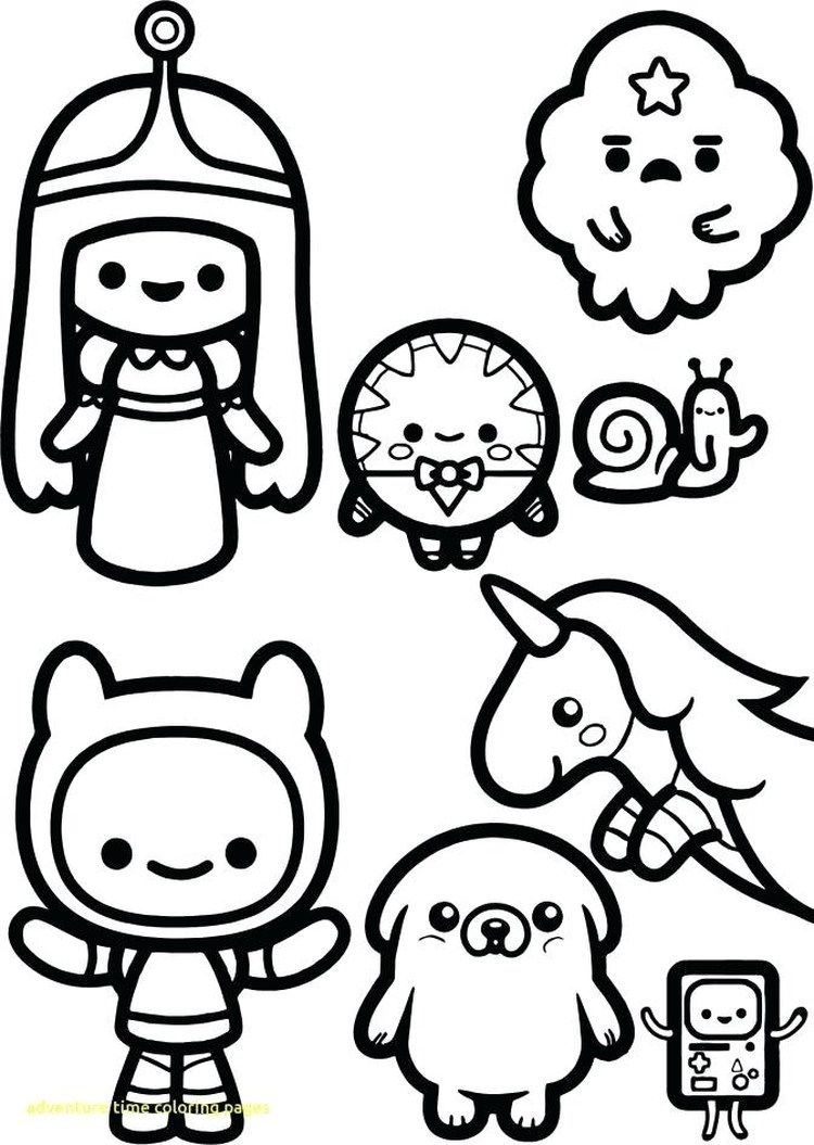 Adventure Time Coloring Pages Printable In 2020 Adventure Time Coloring Pages Chibi Coloring Pages Coloring Books