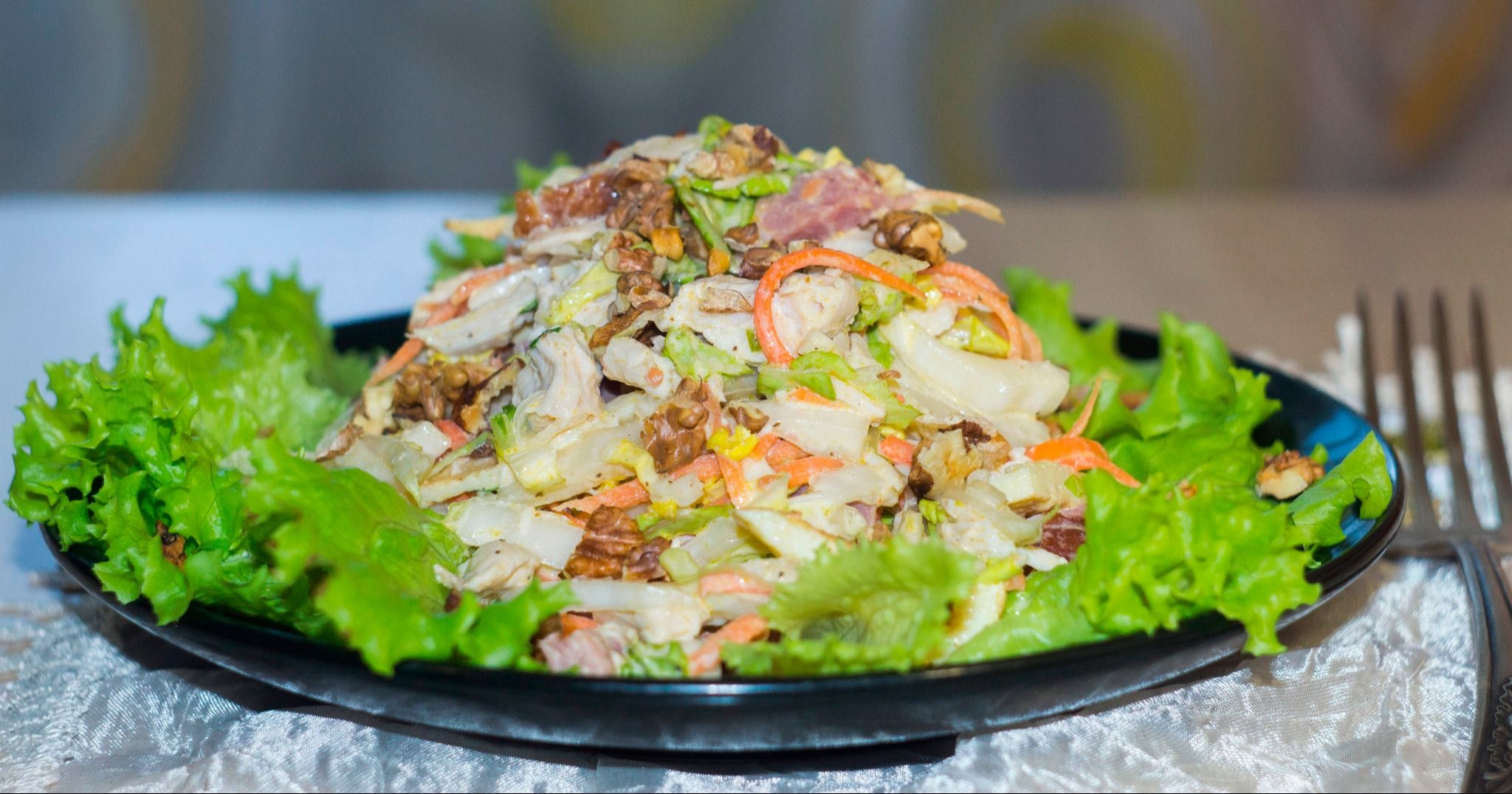 Салат Анастасия с корейской морковкой | Рецепт | Еда и ...