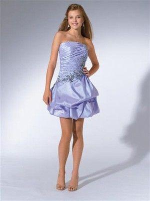 kurzes süßes gefältiges Abendkleid | abendkleider lang günstig ...