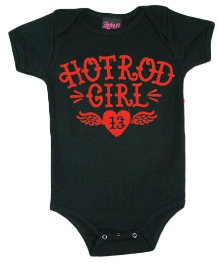 594d9d4a3 Hot Rod Girl Baby Onesie - click to enlarge shrink