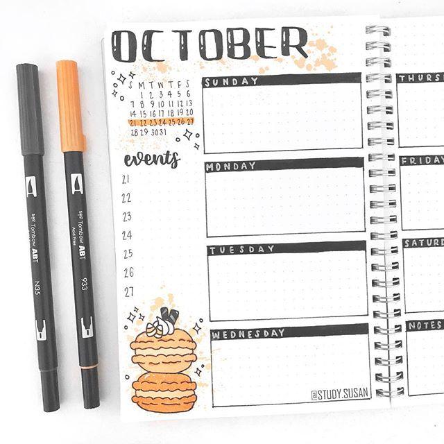s u s a n ✿ в Instagram: «Weekly spread featuring some Halloween macarons s u s a n ✿ в Instagram: «Weekly spread featuring some Halloween macarons
