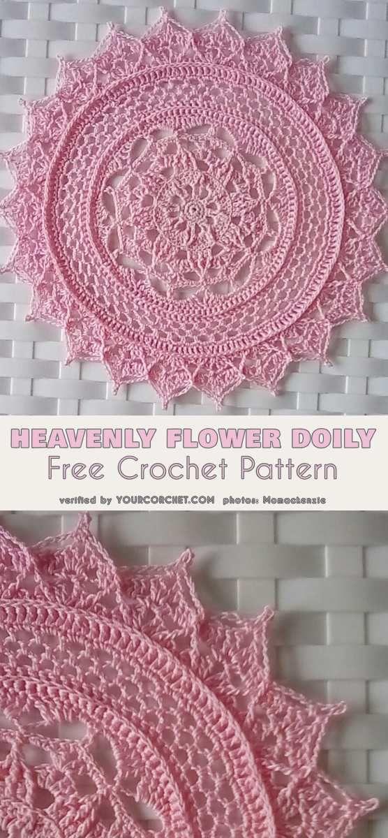 Heavenly Flower Doily Free Crochet Pattern Doilies Motiffs