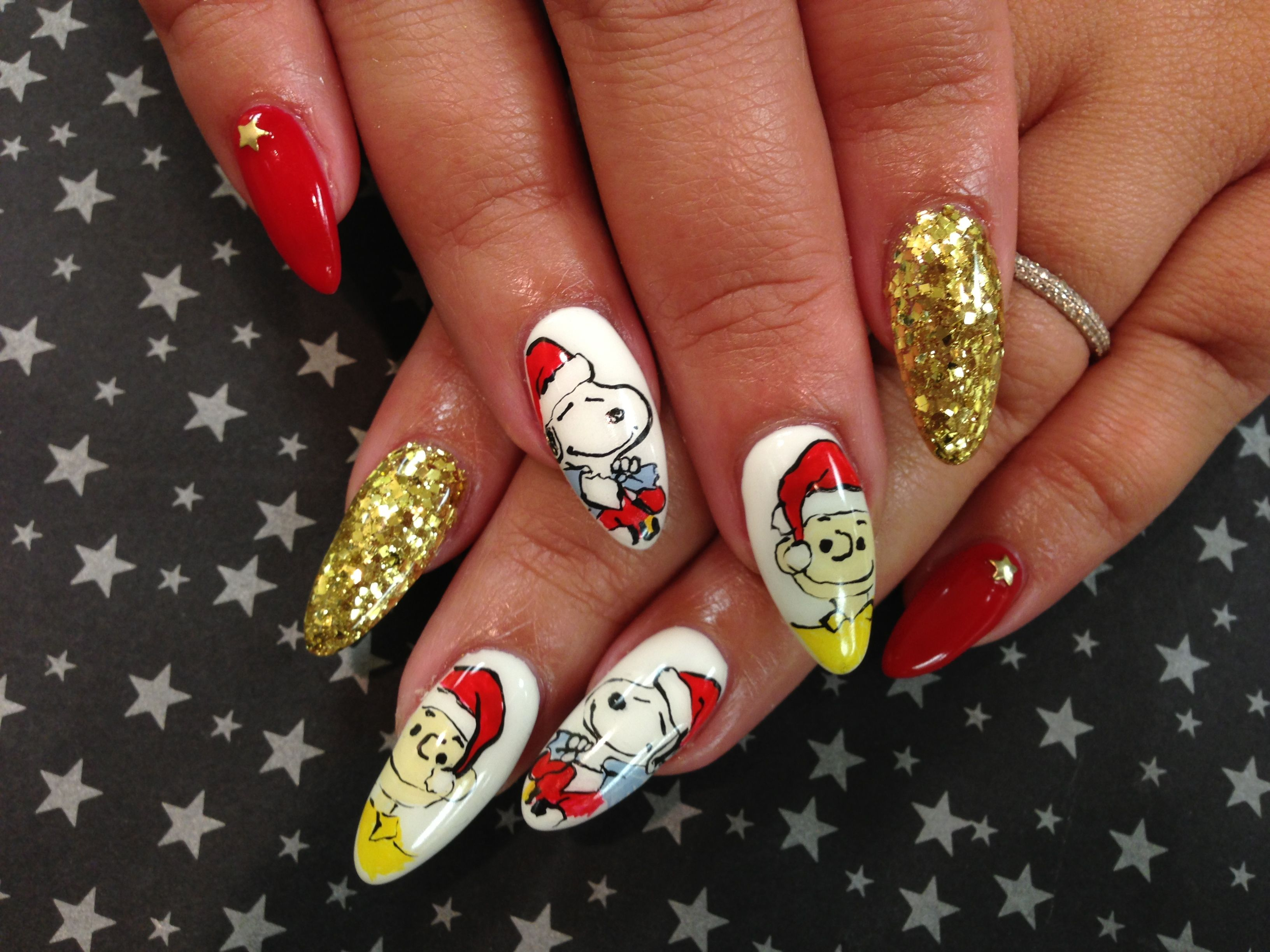 Snoopy at Kawaii Nails in Tustin CA | Nail Art | Pinterest