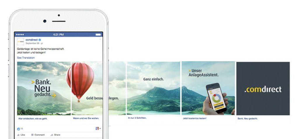 Image Result For Facebook Carousel Ad Facebook Carousel Ads Facebook Design Ads Creative