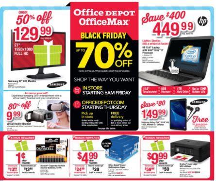 Office Depot Black Friday Advertisement Black Friday Black Friday Ads Shopping Hacks