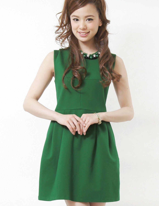 Pourvous womenus formal dress sleeveless short length aline cotton