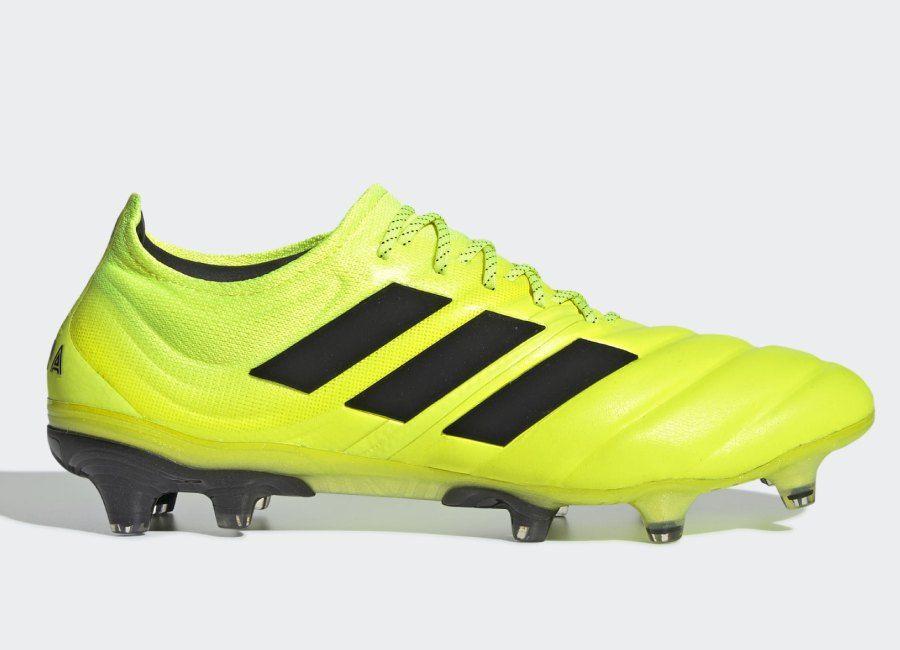 Adidas Copa 19 1 Fg Hard Wired Solar Yellow Core Black Solar Yellow Adidasfootball Adidassoccer Adidas Football Football Boots Adidas