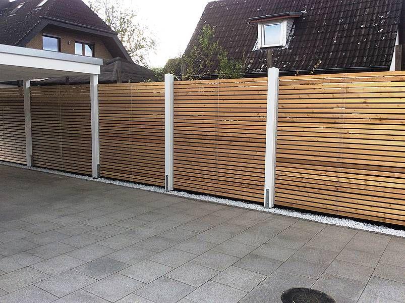 Design-Carport Holz/Stahlwelle | Carport | Pinterest | Zäune ...