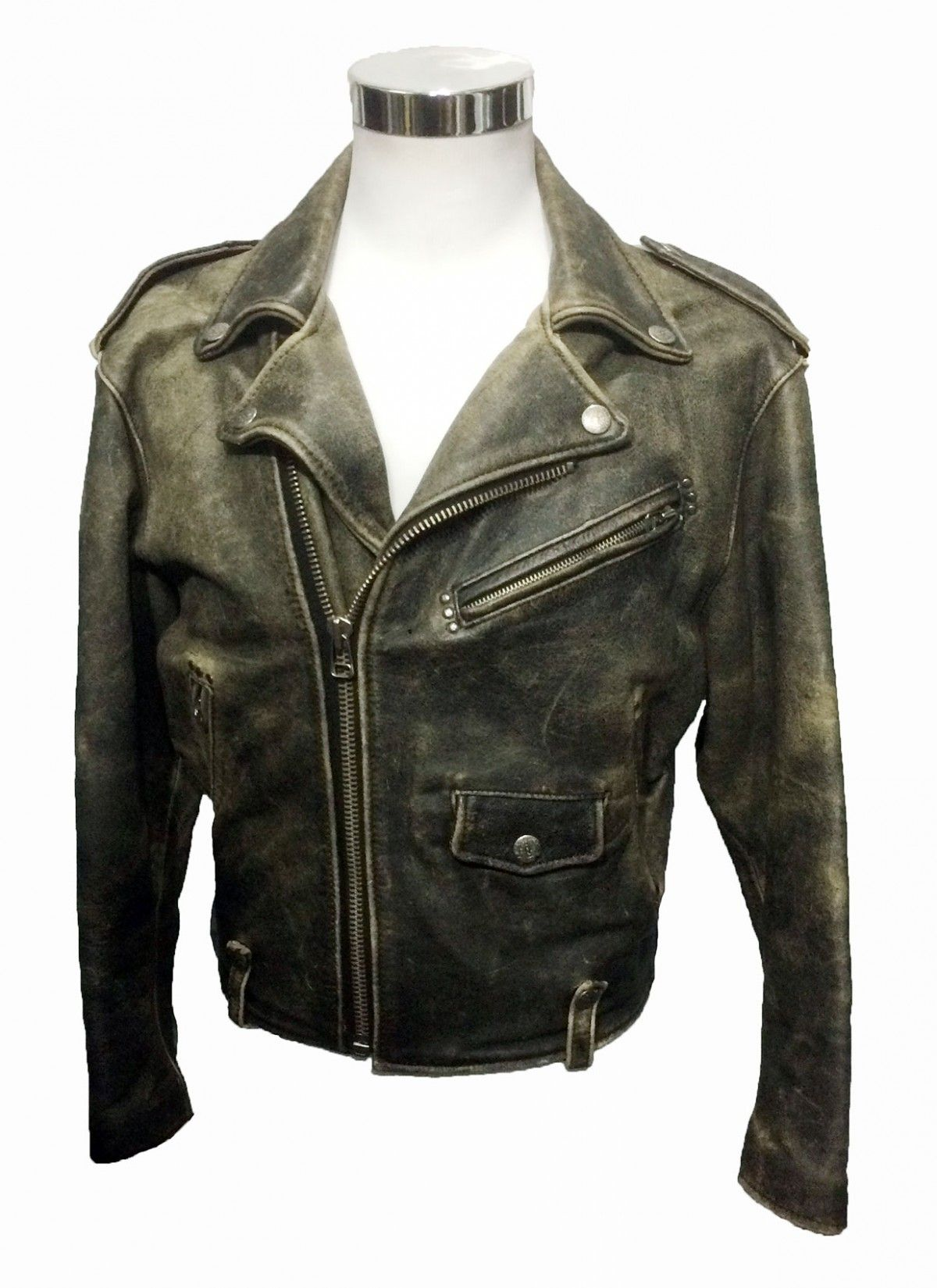 a03c367fb3 AVIREX BLACK LEATHER DOUBLE RIDER JACKET MEN S SIZE S  220.00 SOLD At Eagle  Ages we love Motorcycle Jacket. You can find a great choice of Vintage    Second ...