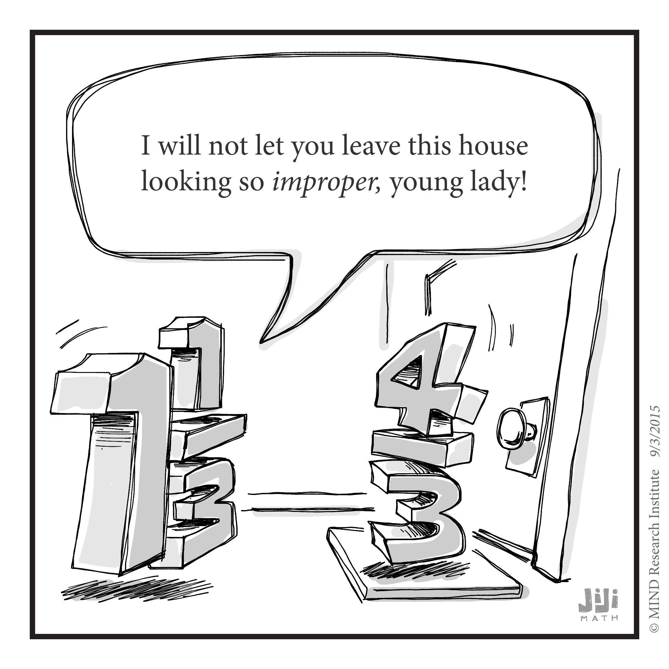 High Quality This Funny Math Cartoon From Off The Number Line Questions Why We Consider  Improper Fractions A Negative Thing.