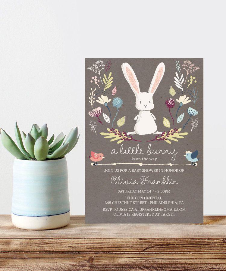 Cool Bunny Baby Shower Invitations Ideas - Invitation Card Ideas ...