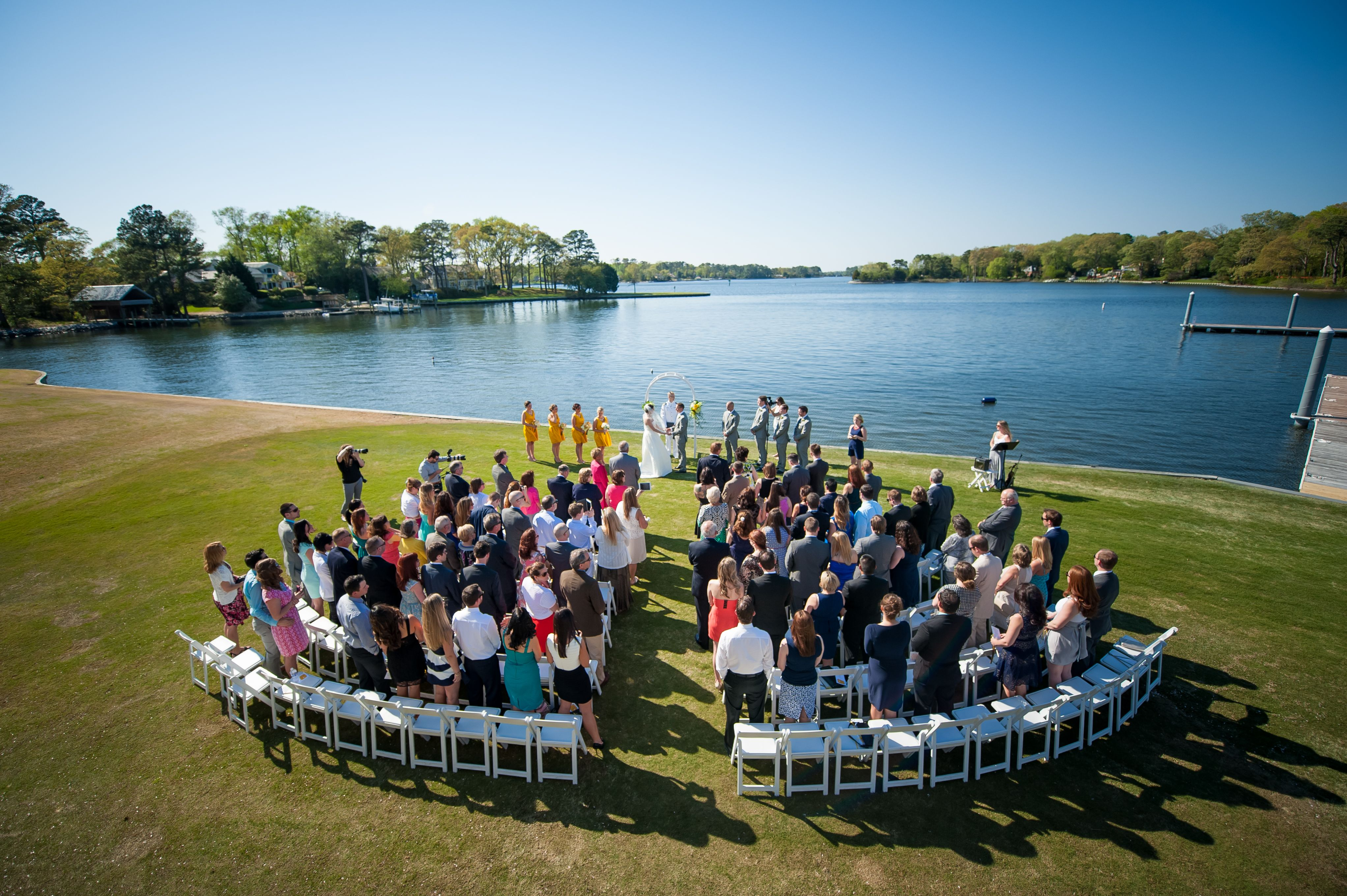 Waterfront Ceremony at Cavalier Yacht Club in Virginia Beach