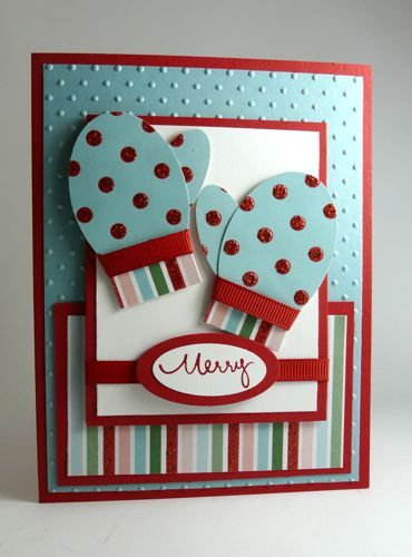Mitten Card Christmas Pinterest Mittens, Cards and Christmas cards
