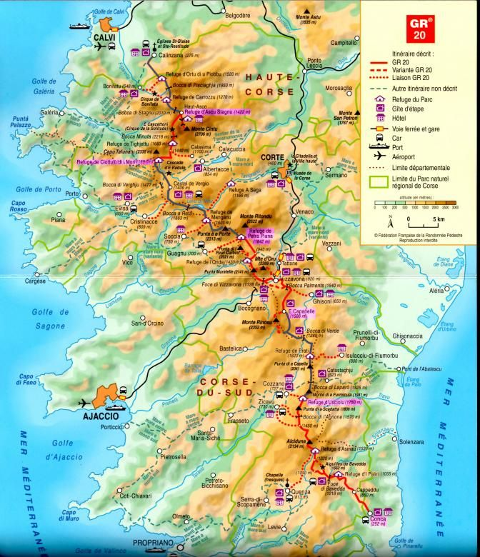 corsica map maps and cartography pinterest france hiking and corse. Black Bedroom Furniture Sets. Home Design Ideas
