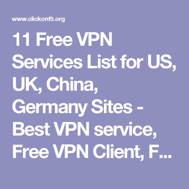 11 Free Vpn Services List For Us Uk China Germany Sites Best Vpn Service Free Vpn Client Free Online Vpn Free Vpn Softw Best Vpn Public Network Service