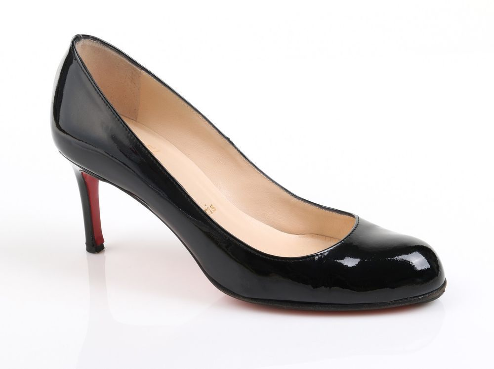 Christian Louboutin Simple Pump 70 Black Patent Leather Pumps