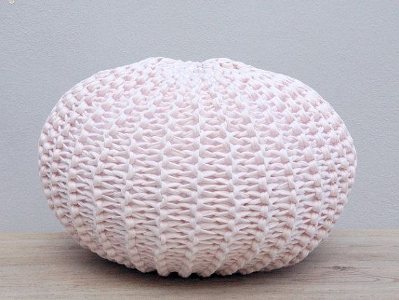 Knitted Pouf Round Floor Pillow TShirt Yarn Zpagetti Couch Amazing T Shirt Yarn Pouf