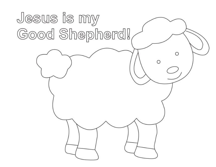 Shepherd And Sheep Coloring Page | Lesson Five: The Good Shepherd ...