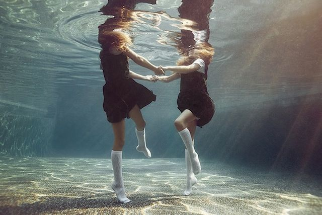 Portraits of Kids Submerged Underwater by Alix Martinez 3