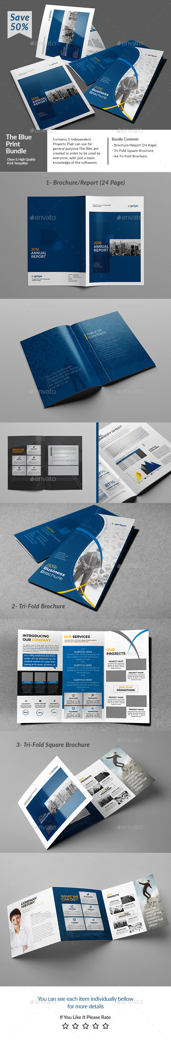The Blue Bundle #elegant #identity #indesign #indesign templates ...