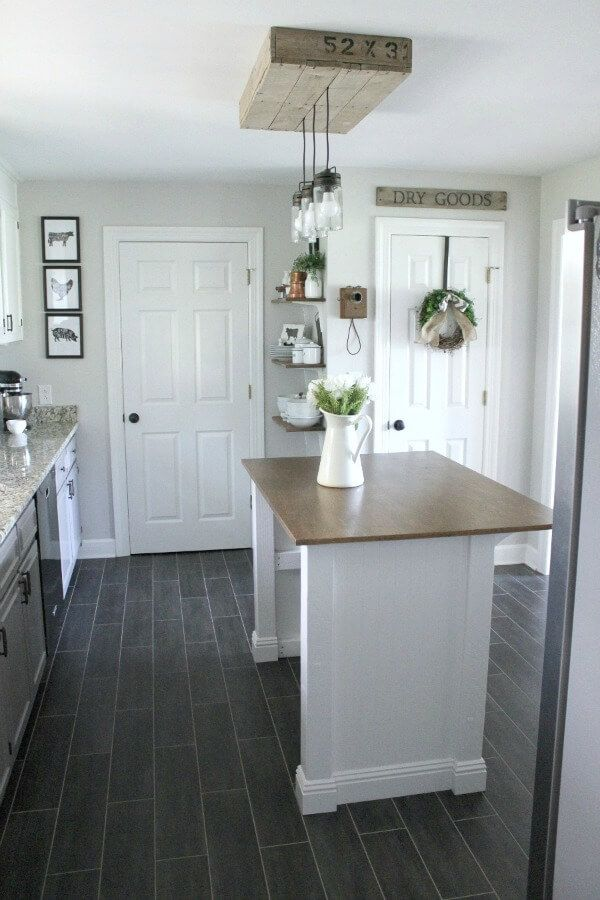 A DIY Farmhouse Kitchen Island Design - Kitchen Pinterest