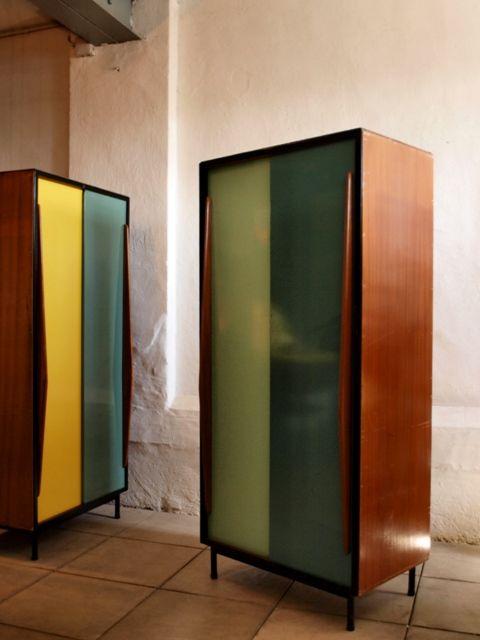 Multicolored Metal Door Cabinets by Willy Van Der Meeren for Tubax Vilvoorde