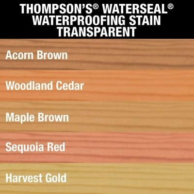 Thompson S Waterseal 1 Gal Woodland Cedar Transparent Waterproofing Stain Th 041851 16 The Home Depot Thompson Waterseal Staining Deck Thompsons