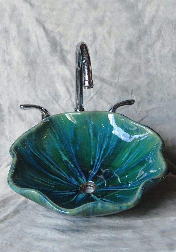 Scallop Ceramic Vessel Sink Ceramic Sink Ceramic Vessel Ceramic Shop
