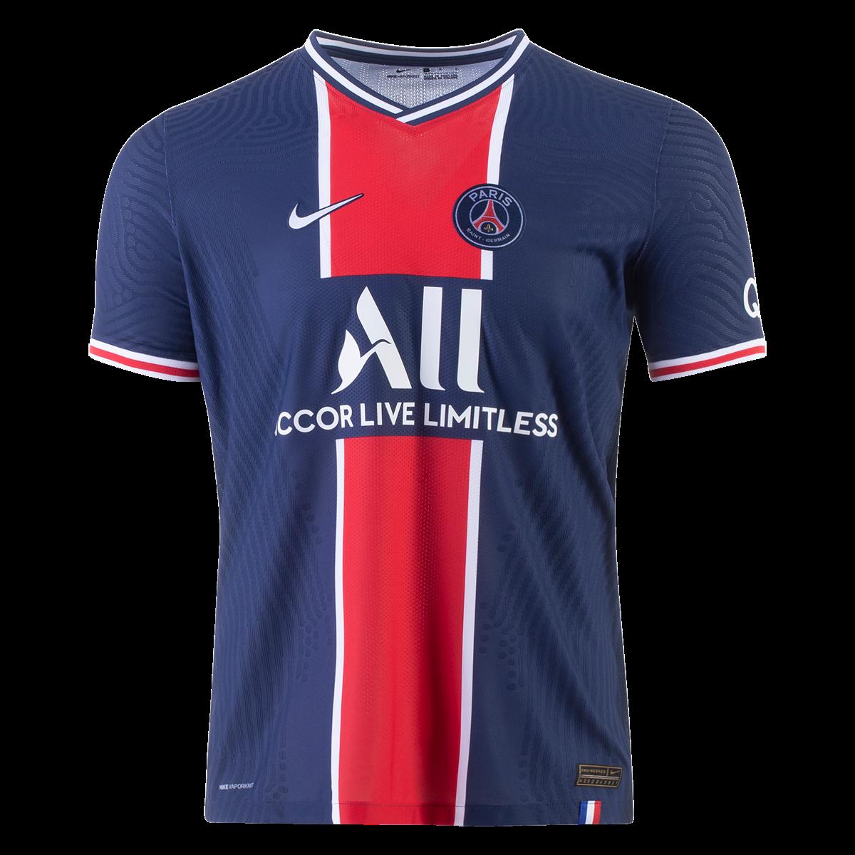 Men's Authentic Nike Paris Saint-Germain Home Jersey 20/21 ...
