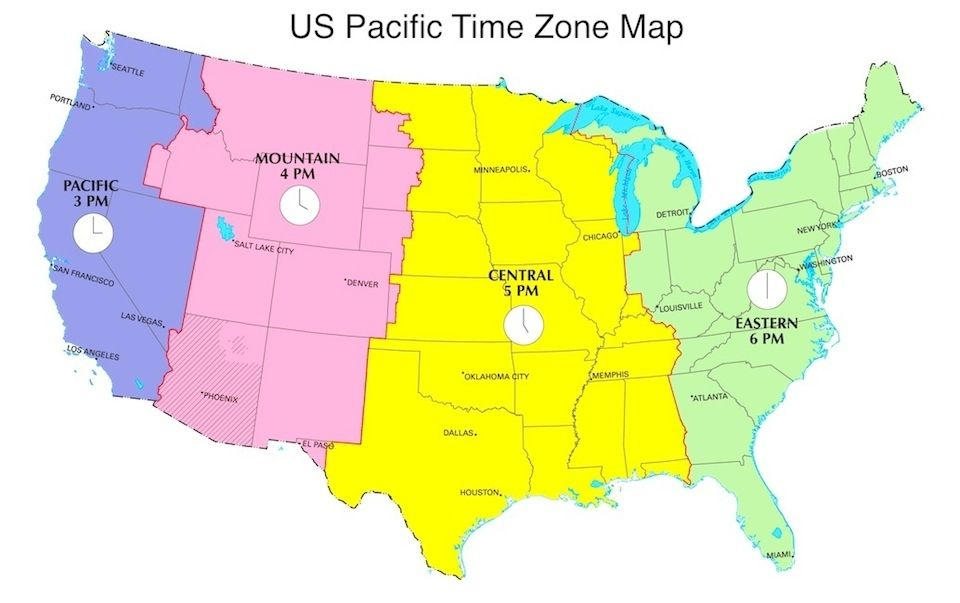 Pacific Time Zone Map Pacific Daylight Time In Us Now Pdt Now Us Time Zones Map 960 X 603 Pixels Time Zone Map Map New Nature Wallpaper
