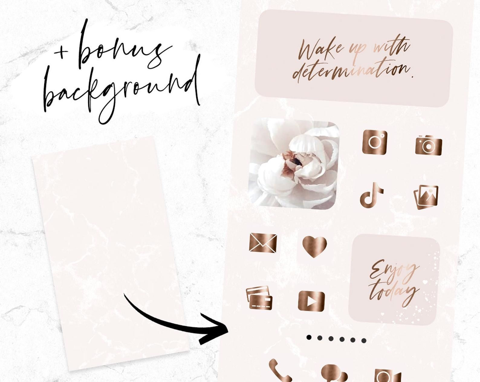 App Icons Rose Gold - IOS 14 Blush Pink App Covers