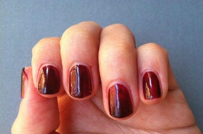 #clinique #blackhoney, my self nail shot:)